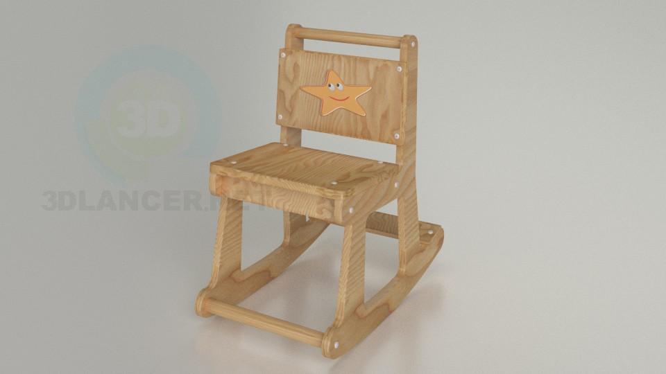 3d моделювання Дитячий стільчик модель завантажити безкоштовно