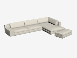 sofá de la esquina contemporánea