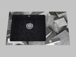 El lavado del cristal de granito, 1 cámara con el ala para el secamiento - el borde redondo Capella