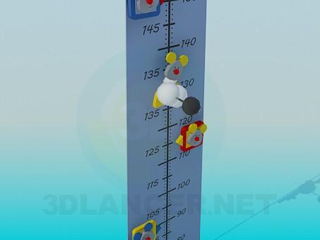 modelo 3D Growthmetr de niños - escuchar