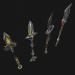 3d War staves 3d model model buy - render