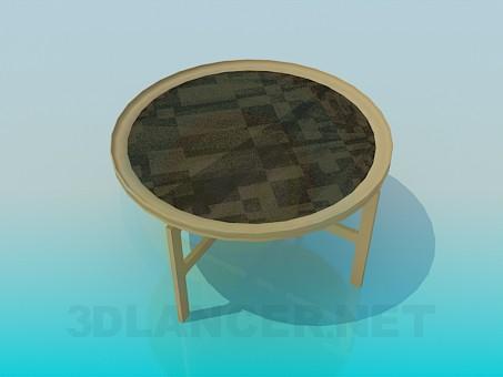 3d модель Столик с орнаментом – превью