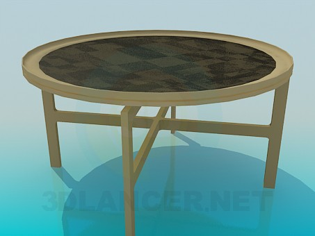 3d model Table with ornament - preview