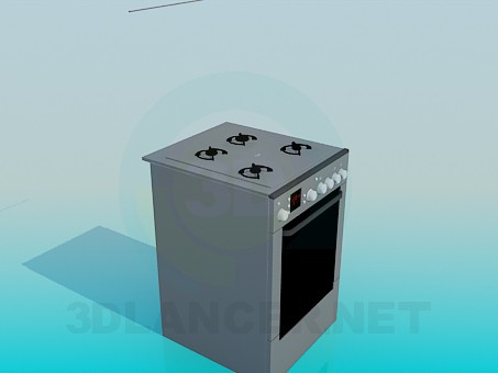 3d model The cooker - preview