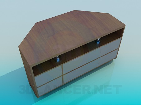 3d model Cupboard for TV - preview