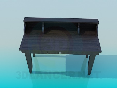 3d modeling Writing table model free download