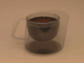Double glass square cup