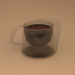 3d Double glass square cup model buy - render