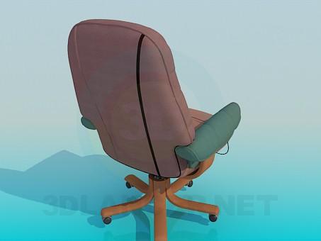 modelo 3D Sillón de ruedas - escuchar