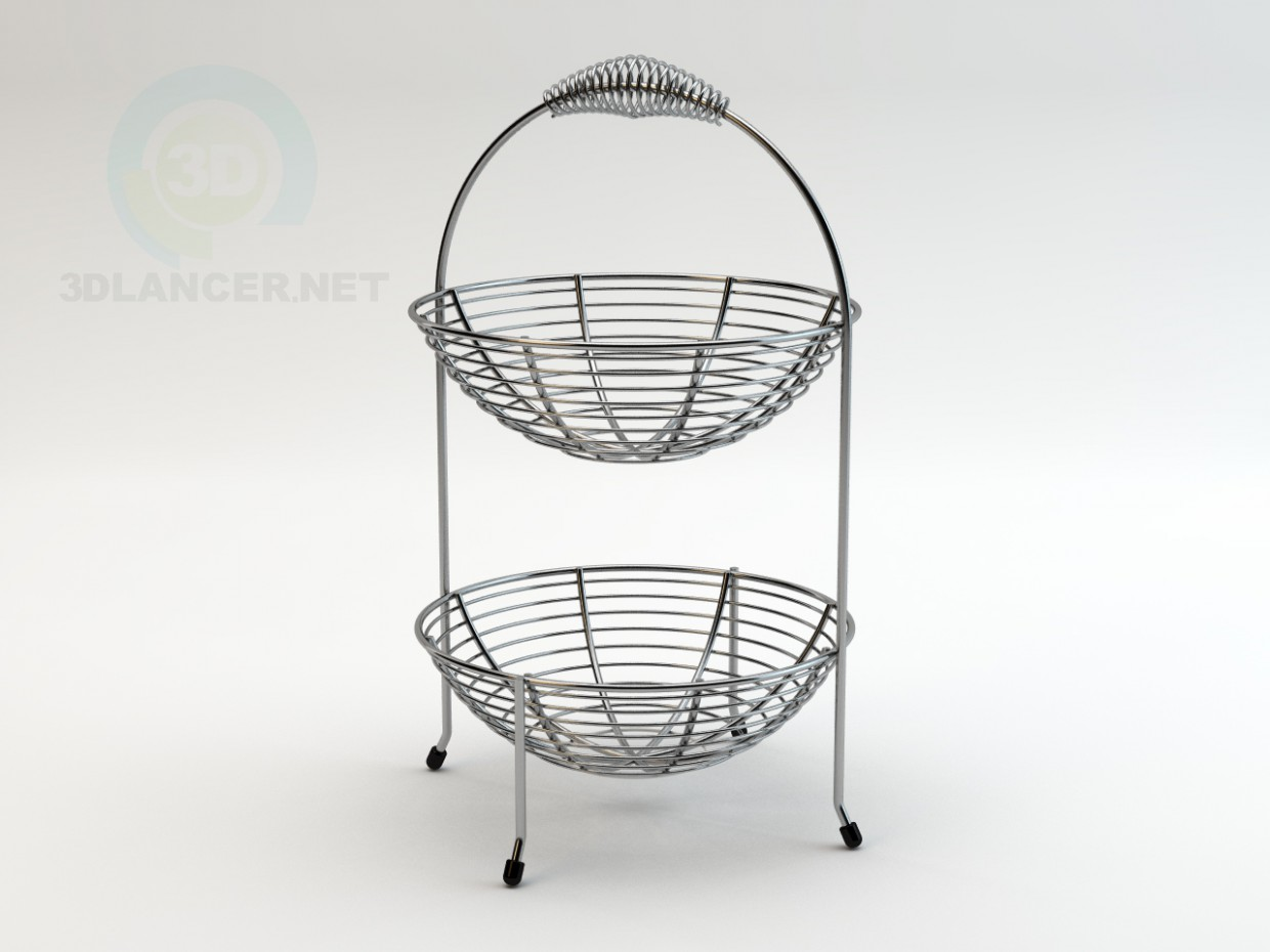 3d model Wire Fruit Basket - preview