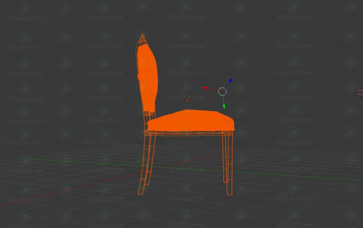 3d Классический стул модель купить - ракурс