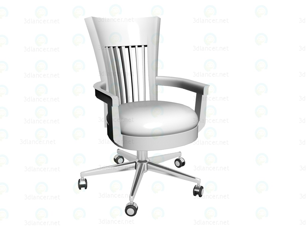 3d modeling Childs Chair Classic White model free download