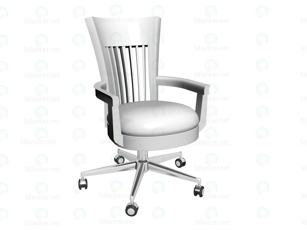 3d моделирование Стул офисный Classic White модель скачать бесплатно