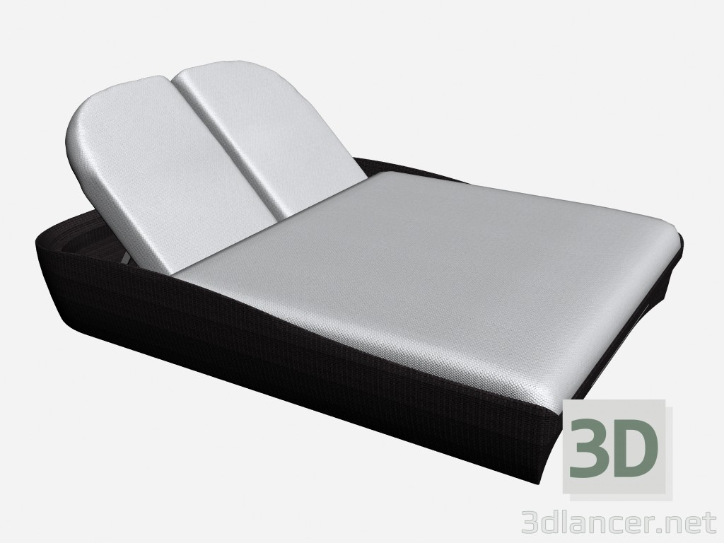 3d modeling Chaise 2-bed 2 Seater Chaise Longe With Interior Box 46610 46660 model free download