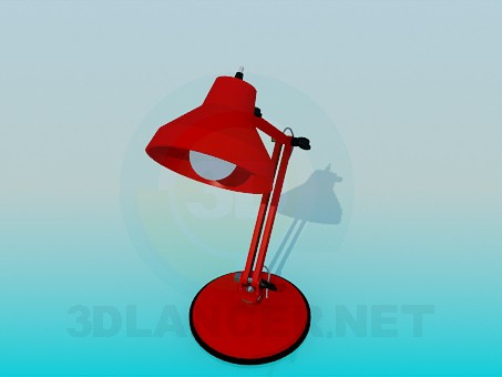 3d modeling Table lamp model free download