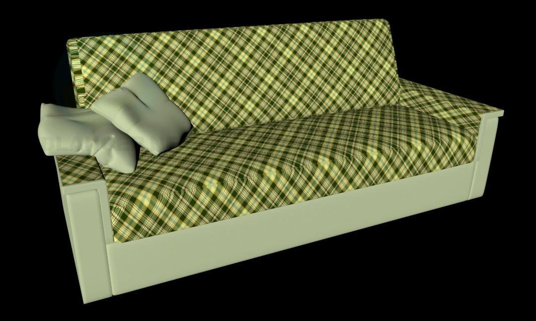 "modelo 3D ""Muebles de Edegem"" Señor sofá - escuchar"