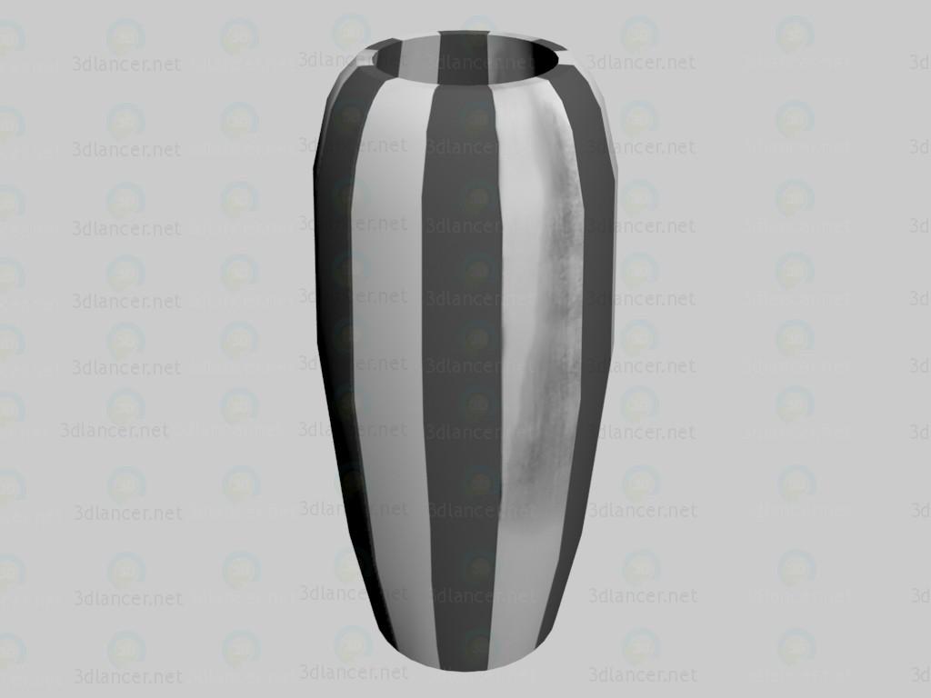 3d model Vase Verso Silver (average) VOX - preview