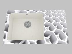 El lavado del cristal de granito, 1 cámara con el ala para el secamiento - el borde de la copa redon