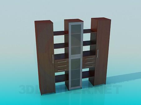 3d model Estantería - vista previa