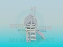 Toboggan en forme de moulin