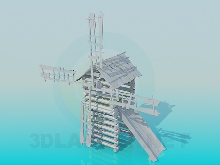 3d model Slide in the form of mill - preview