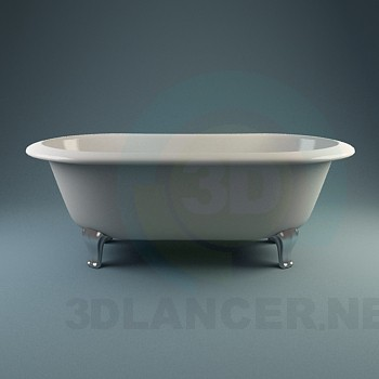 3d model A collection of classic baths - preview