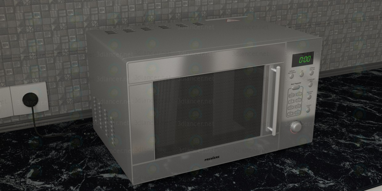 3d model Microwave Oven Premiere - preview