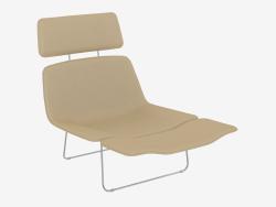 Chaise avec repose-tête en cuir Ressort