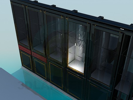 3d model Library Corner storefront - preview