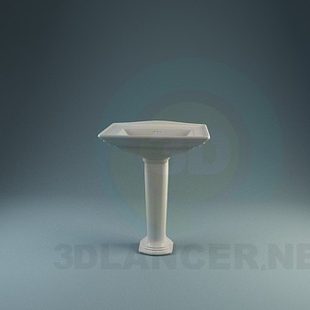 3d model A collection of classic sinks - preview