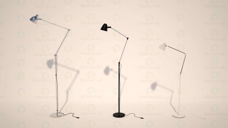 3d model Lámpara de pie, lámpara de IKEA 3 piezas. Antífonas UPBU, Troll - vista previa