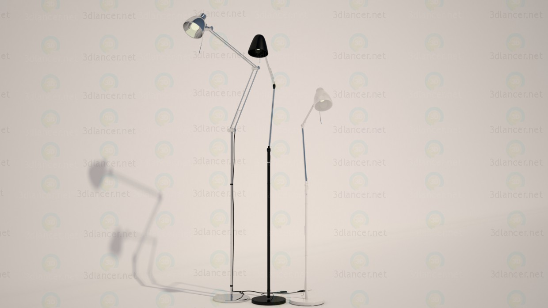 3d модель Торшер, лампа з IKEA 3 шт. Антифонним, УПБУ, ТРОЛЬ – превью