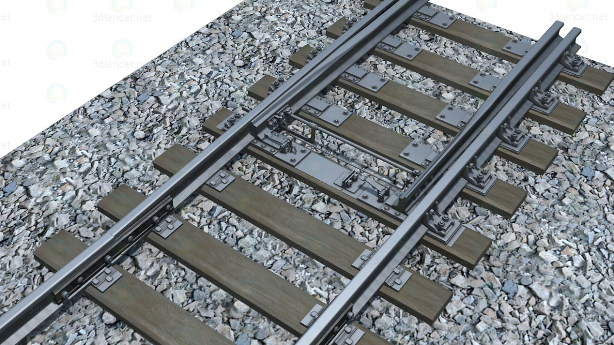 3d model Railroad switch - preview