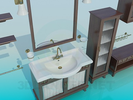 3d model A set of furniture for the sink - preview