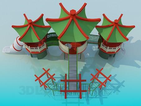 3d модель Десткая площадка – превью