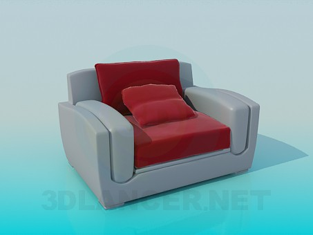 3d modeling Chair with cushion model free download