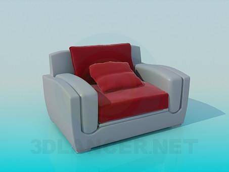 3d моделирование Кресло с подушкой модель скачать бесплатно