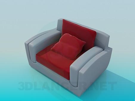 modelo 3D Silla con cojín - escuchar
