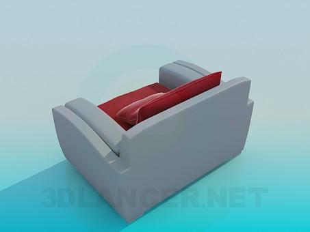 3d модель Кресло с подушкой – превью