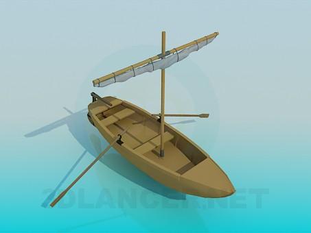3d модель Човен – превью
