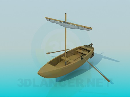 3d model Boat - preview