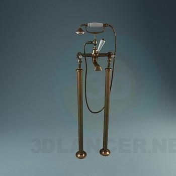descarga gratuita de 3D modelado modelo Grifos de baño clásico