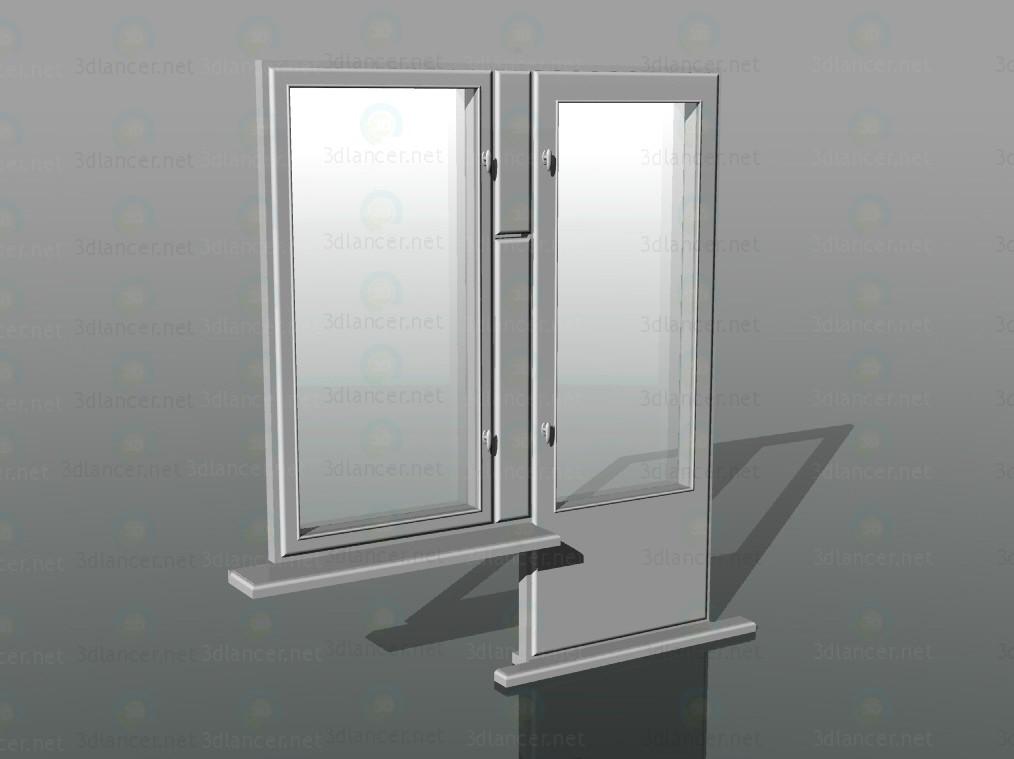 3d модель Оконный блок – превью