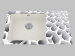 Fregadero de granito de vidrio, 1 cámara con un ala para secar - Edge Diamond Capella (ZSC AC2C)