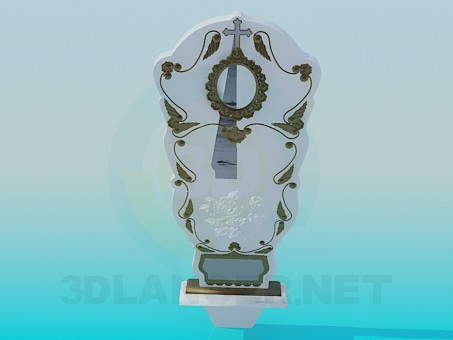 3d modeling Tombstone model free download