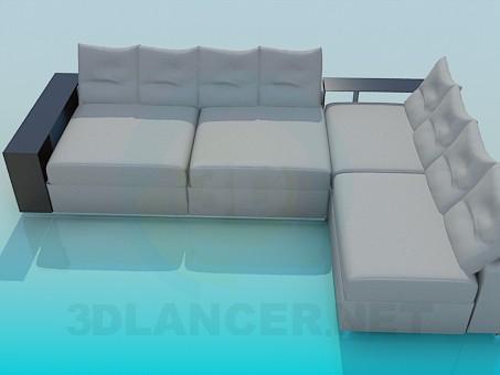 3d моделирование Угловой диван модель скачать бесплатно
