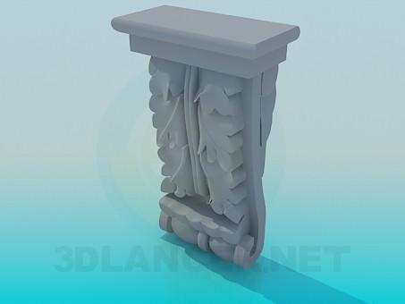 3d модель Подставка из лепнины – превью