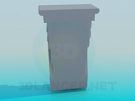 modelo 3D Apoyo de moldeo - escuchar