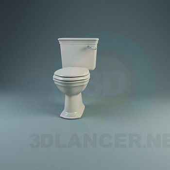 3d model A collection of classic toilets and bidets - preview