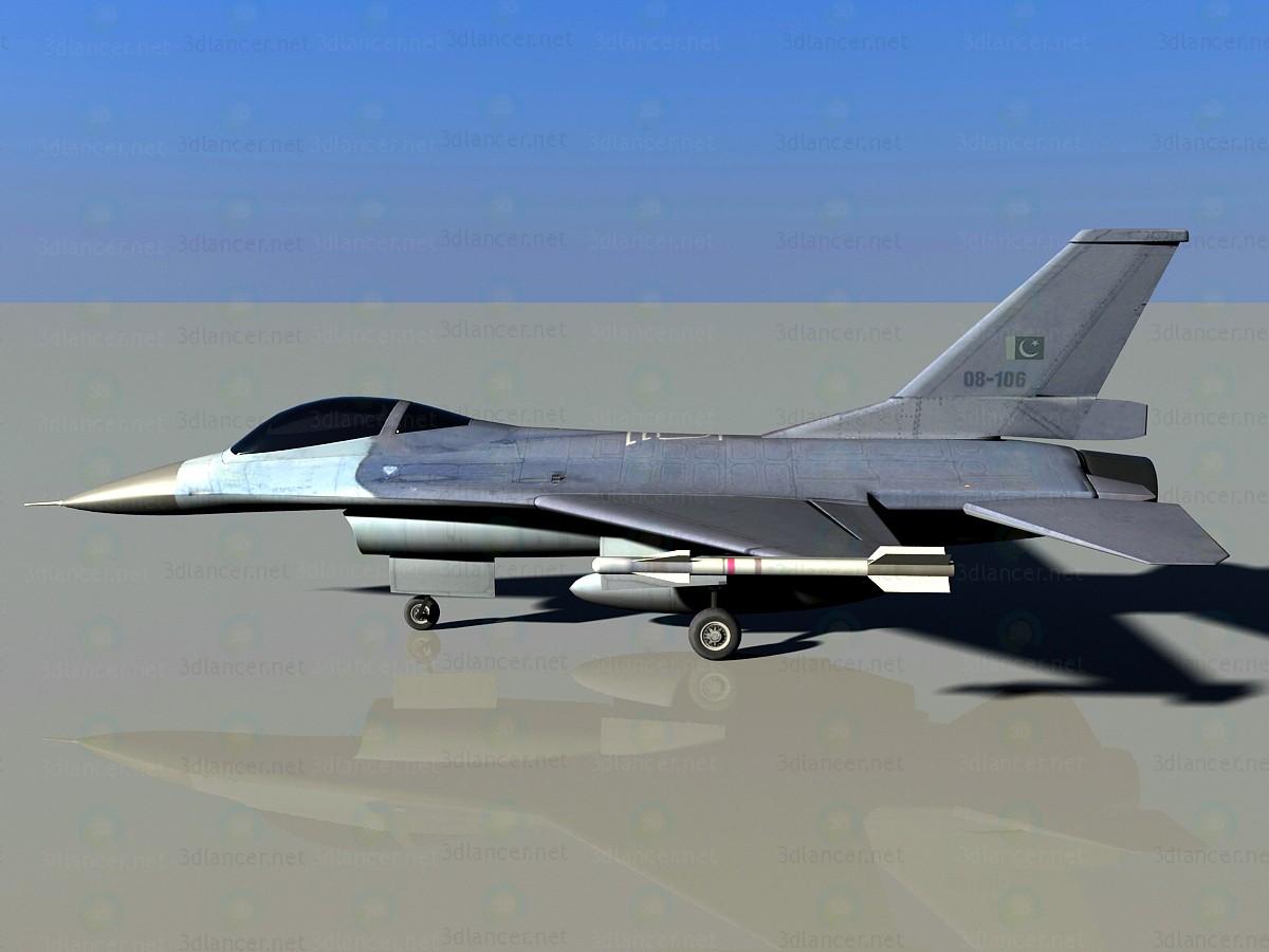 F-16 3D modelo Compro - render